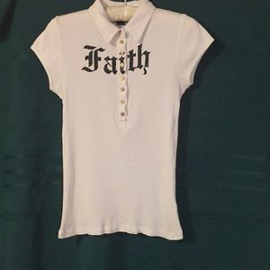 Faith Connexion Knit Shirt,collar,Faith in sequins